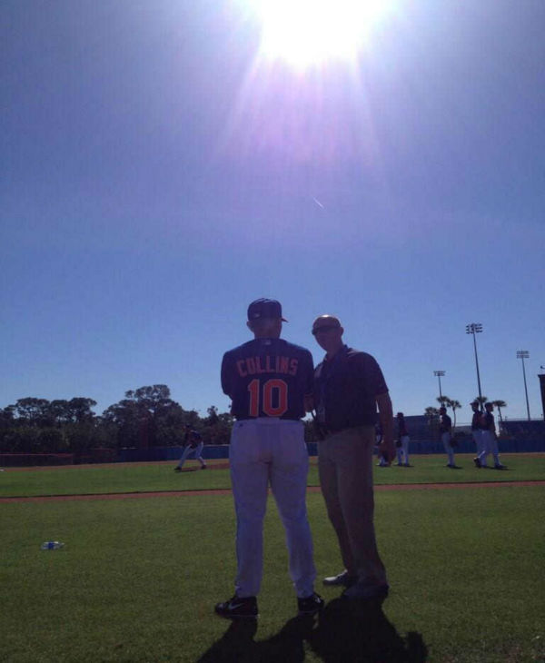 First official day of Mets pitchers and catchers under the watchful eye of Terry Collins and the Florida sun.  <span class=meta>(WABC Photo&#47; Rob Powers)</span>