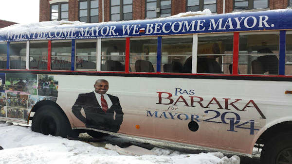 "<div class=""meta image-caption""><div class=""origin-logo origin-image ""><span></span></div><span class=""caption-text"">Newark mayoral candidate Ras Baraka?s campaign bus was set on fire on Sunday morning. (Photo/Baraka for Mayor)</span></div>"