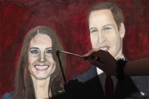Estibalis Chavez paints a portrait of Britain&#39;s Prince William and Kate Middleton in front of the  British Embassy in Mexico City, Friday Feb. 18, 2011. Chavez, 19, who says she has a childhood dream to attend a royal wedding, claims she has been on a hunger strike for nine days and will continue her fast camped out in front of the embassy until she gets an invitation to attend the royal wedding of William and Kate.  According to a statement from the British embassy in Mexico, Buckingham Palace is aware of Chavez&#39;s hunger strike but no invitation will be extended to her. &#40;AP Photo&#47;Alexandre Meneghini&#41; <span class=meta>(AP Photo&#47; Alexandre Meneghini)</span>