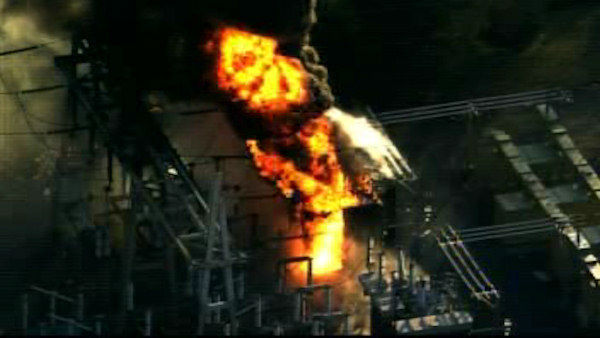 A large transformer fire burned at the PSE&#38;G Transformer Station in Edison, New Jersey on Tuesday afternoon. <span class=meta>(WABC Photo)</span>