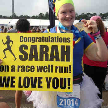 Sarah Marbach lost more than 200 pounds, totally transforming her body and her life, and it is carrying her to more than a finish line at the NYC Half Marathon.