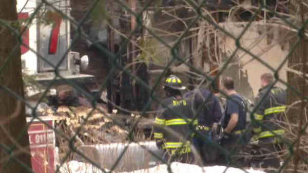 Several firefighters were injured battling a large house fire early Saturday morning in Bedford Hills.