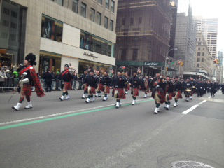 New York City's St. Patrick's Day parade took place on Monday, March 17, 2014.