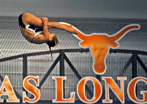 Arizona State&#39;s Elina Eggers competes in the women&#39;s 10-meter platform diving at the NCAA women&#39;s swimming and diving championships Saturday, March 19, 2011, in Austin, Texas. Eggers finished second. &#40;AP Photo&#47;Michael Thomas&#41; <span class=meta>(AP Photo&#47; Michael Thomas)</span>