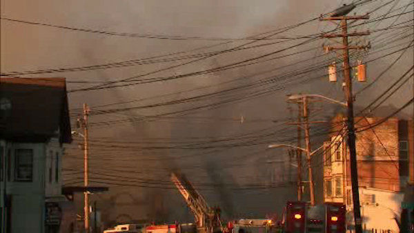 The fire began around 4:30 p.m. on Wednesday at 6th Avenue and River Street.  <span class=meta>(WABC Photo&#47; WABC)</span>