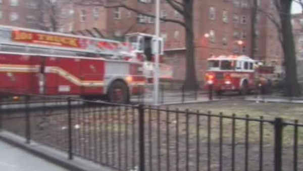 At least five people were injured, one critically, in a fire Sunday morning at the Red Hook Houses in Brooklyn.