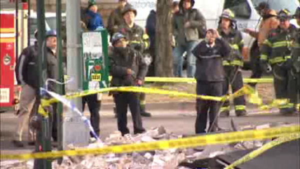 "<div class=""meta image-caption""><div class=""origin-logo origin-image ""><span></span></div><span class=""caption-text"">A façade collapsed outside a GameStop store in Elmhurst, Queens on Thursday afternoon. (WABC Photo/ wabc)</span></div>"