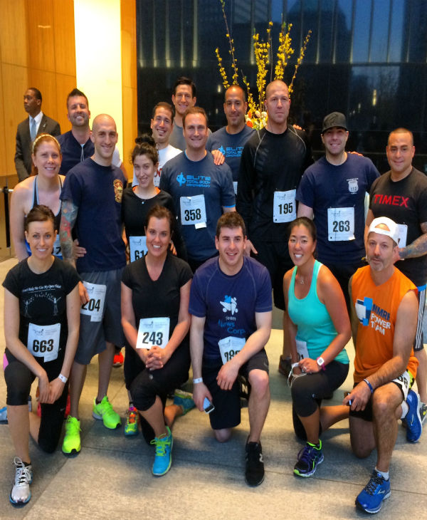 Hundreds climbed 72 flights of Four World Trade Center for the Damon Runyon Cancer Research Center.