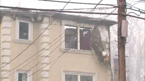 "<div class=""meta image-caption""><div class=""origin-logo origin-image ""><span></span></div><span class=""caption-text"">Three homes were destroyed and a fourth was damaged in a fire that broke out early Sunday morning in Newark.</span></div>"