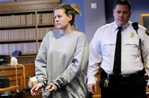 "<div class=""meta ""><span class=""caption-text "">Kristen LaBrie is brought into the courtroom before being sentenced to eight to ten years in prison at Lawrence Superior Court in Lawrence, Mass., Friday, April 15, 2011. LaBrie was convicted of attempted murder for withholding cancer medications from her autistic son. (AP Photo/Cheryl Senter) (AP Photo/ Cheryl Senter)</span></div>"