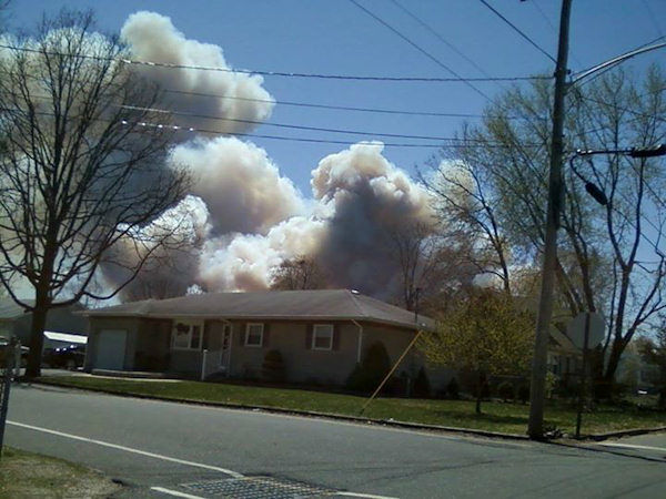"<div class=""meta ""><span class=""caption-text "">Viewer photo of the brush fire in Beachwood, New Jersey on April 24, 2014.</span></div>"