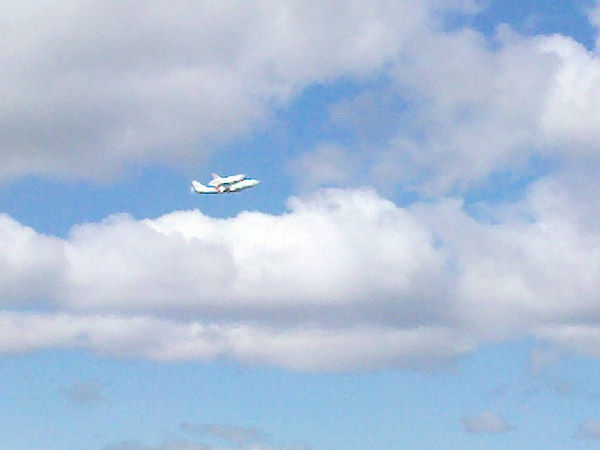 Eyewitness News viewer photo of the Shuttle Enterprise arriving in New York City on Friday, April 27, 2012.