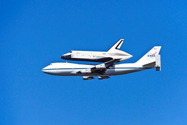Our own Dr. Jay Adlersberg took this photo of the Shuttle Enterprise arriving in New York City on Friday, April 27, 2012.