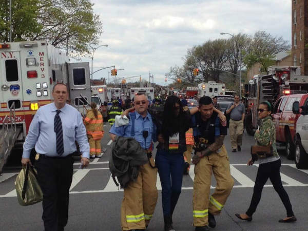 "<div class=""meta ""><span class=""caption-text "">More of the injured at the Queens subway derailment (Stacey Sager)</span></div>"