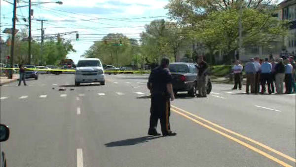 Authorities say three children walking home from school in New Brunswick Tuesday were hit by an SUV driven by the city's fire director.