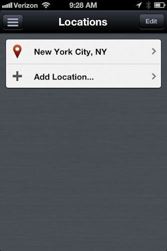 "<div class=""meta ""><span class=""caption-text "">The app follows you wherever you go, plus you can set up 4 additional locations so you can monitor conditions at home, work or a destination.   Just open the menu in the top left-hand corner and then click on manage locations.</span></div>"