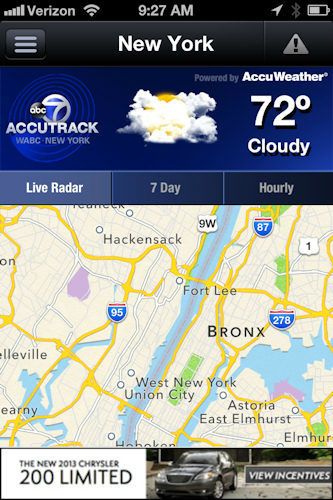 When bad weather is in the AccuWeather forecast, now you can have the full power of AccuTrack interactive radar in the palm of your hands!   The AccuTrack Weather Alert app is now available for iPhones and Androids!