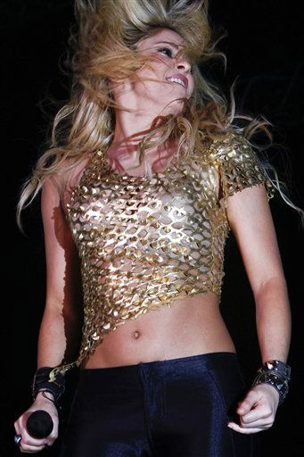 "<div class=""meta ""><span class=""caption-text "">Colombia's pop star Shakira performs at Mawazine Festival in Rabat, Morocco, Saturday May 28, 2011. (AP Photo/Abdeljalil Bounhar) (AP Photo/ Abdeljalil Bounhar)</span></div>"