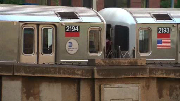"<div class=""meta image-caption""><div class=""origin-logo origin-image ""><span></span></div><span class=""caption-text"">A number 1 subway train suffered a minor derailment on Wednesday evening, trapping passengers on board until they could be rescued by another train. (WABC Photo/ WABC)</span></div>"