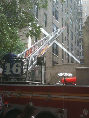 "<div class=""meta image-caption""><div class=""origin-logo origin-image ""><span></span></div><span class=""caption-text"">Photos from a fire inside Robert DeNiro's 88 Central Park West apartment just after 2 p.m. on Friday.  DeNiro was out of the country at the time of the fire. There were no injuries. The fire is believed to be caused by lint in a dryer. (Photos by Bill King/Eyewitness News) </span></div>"