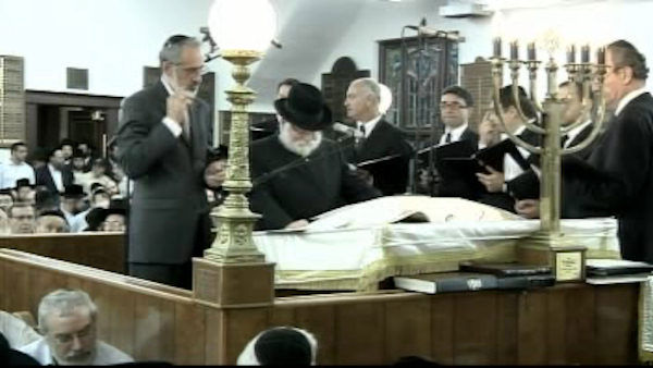 A special prayer service was held to honor 8-year-old Leiby Kletzky in Brooklyn on Wednesday, July 20, 2011. <span class=meta>(WABC Photo)</span>