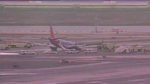 "<div class=""meta ""><span class=""caption-text "">A rough landing at LaGuardia Airport where a landing gear on a Southwest plane collapsed when landing. There were a total of 150 people on board.</span></div>"