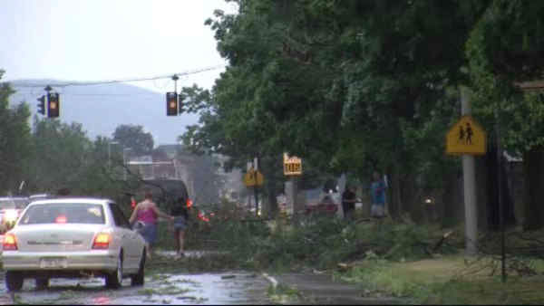 Possible tornado touches down in Elmira, New York <span class=meta>(WABC Photo)</span>