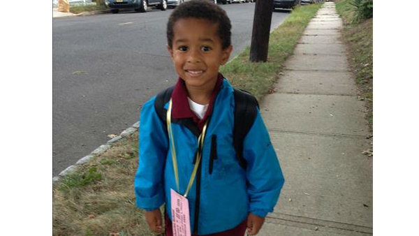 Christopher R. Diaz's First Day of School. From Englewood, NJ