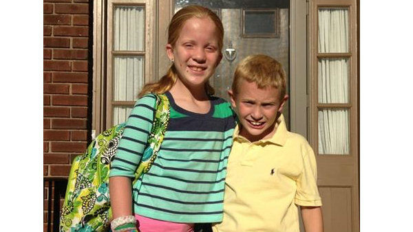 The Walshes first day of 4th and 6th grade!