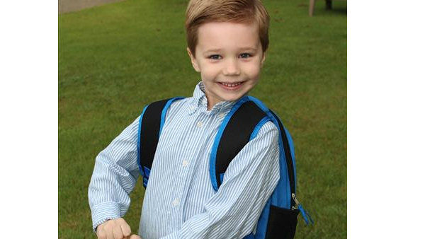Sebastian Mey looking forward to his 1st day of Kindergarten in Oak Ridge, NJ