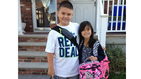 "<div class=""meta ""><span class=""caption-text "">Mikey and Arianna's first day of 5th and 2nd grade. From Staten Island, NY</span></div>"