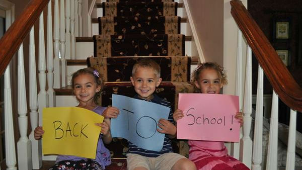 "<div class=""meta ""><span class=""caption-text "">First day of Pre-K for these triplets!</span></div>"