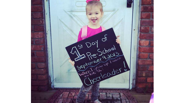 Ashley is ready for her first day of pre-school!