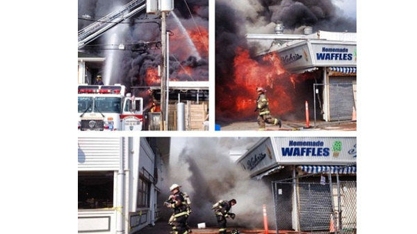 Pictured: Images from viewer photo showing the fire on the boardwalk in Seaside Park, N.J. on Thursday, September 12th.  &#40;COURTESY: Gabby_Vivona via Instagram&#41; <span class=meta>(Gabby_Vivona)</span>