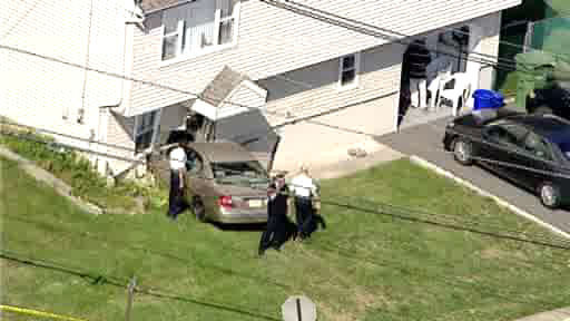 "<div class=""meta image-caption""><div class=""origin-logo origin-image ""><span></span></div><span class=""caption-text"">A routine traffic stop in Metuchen, New Jersey led to police chase that ended with a car crashing into a home.</span></div>"