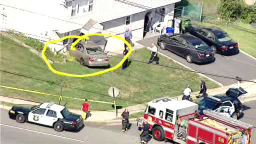 A routine traffic stop in Metuchen, New Jersey led to police chase that ended with a car crashing into a home.
