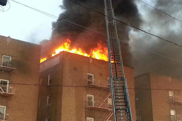 Fire burns through building in North Bergen  <span class=meta>(WABC Photo&#47; Giuseppe Gigante)</span>