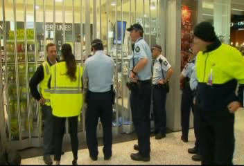 A bizarre sight caused a security breach caused a partial lockdown of the Melbourne airport.