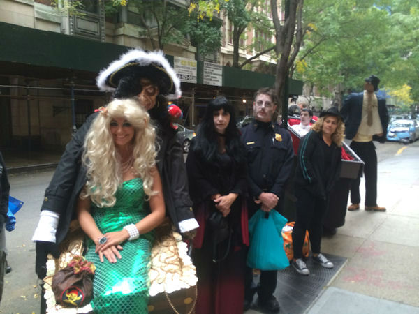 Some of the many people dressed in costume for Live with Kelly and Michael's Halloween show!