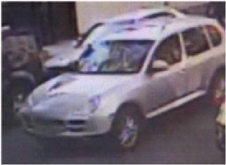 On Friday, October 28, 2011 at approximately 2:41 pm in the vicinity of 500 block of West 150 Street in the confines of the 30 Precinct in Manhattan N.Y. Victim was approached by four males (pictured below) in a grey Porsche Cayenne suv and was shot . The victim sustained serious physical injuries and the suv fled eastbound on West 150 Street. Please call Crime Stoppers at 1(800)577-TIPS. All calls remain anonymous and confidential.