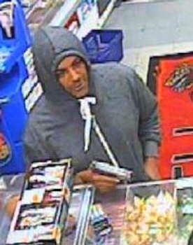ON FRIDAY, AUGUST 2, 2013 AT APPROXIMATELY 12:06 A.M., INSIDE OF 69-21 MYRTLE AVENUE located in the confines of the 104 Precinct in Queens, THE ABOVE pictured PERPETRATOR ENTERED THE MINI MARKET DELI, DISPLAYED A FIREARM AND REMOVED MONEY FROM THE CASH REGISTER. Pleas call Crime Stoppers at 1(800)577-TIPS. All calls remain anonymous and confidential.