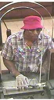 On Tuesday, September 3, 2013 at approximately 4:37 PM the suspect entered the Chase Bank located at 402 Myrtle Avenue, approached a teller and passed a note demanding money. He then fled the location without any cash. No injuries were reported and no weapon was displayed. Reward up to $2,000 payable by Crime Stoppers upon arrest and indictment of the person responsible for the above listed crime.