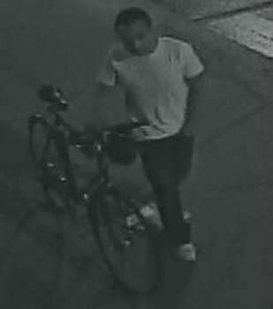 "On Sunday, September 8, 2013 at approximately 4:30 A.M. in the vicinity of Metropolitan Avenue and Leonard Street, the above pictured subject entered an apartment through a fire escape and sexually assaulted a female. The subject then exited the victim's apartment from the fire escape and fled on a bicycle. The subject is described as a male Hispanic, 5'5""- 5'7""; approximately 160 pounds, wearing a white shirt with a logo on the top left corner, dark jeans and white sneakers."
