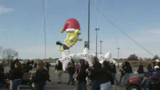Preparations for a Thanksgiving day tradition took place Saturday as some of the newest additions to the Macy?s Thanksgiving Day Parade were tested out for the first time.