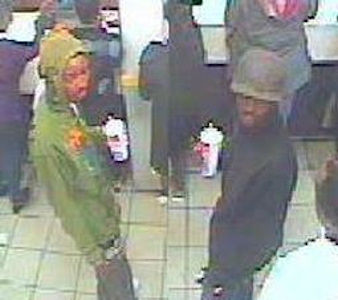 ON SATURDAY 04/21/2012 AT APPROXIMATELY 5:22 P.M., THE ABOVE MALES ENTERED MC DONALDS AT 943 FLATBUSH AND MADE A PURCHASE USING A CREDIT CARD STOLEN DURING THE COMMISSION OF A ROBBERY THAT OCCURRED ON SATURDAY 04/21/2012 AT 1555 HRS AT ALBERMARLE ROAD AND RUGBY ROAD. Case 229/12. PLEASE CALL CRIME STOPPERS AT 1(800)577-TIPS. ALL CALLS REMAIN ANONYMOUS AND CONFIDENTIAL.
