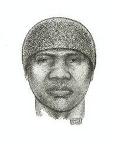 On Sunday, February 10, 2013, at approximately 3:35 A.M., in an alleyway in the confines of the 20 Precinct in Manhattan, the victim exited a yellow taxi on East 58 Street was grabbed from behind, dragged into an alleyway, and sexually assaulted by the suspect depicted in the sketch above. PLEASE CALL CRIME STOPPERS AT 1(800)577-TIPS. ALL CALLS REMAIN ANONYMOUS AND CONFIDENTIAL.