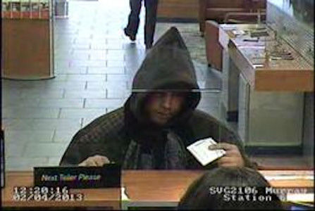 On Monday, February 4,2013 at approximately 12:20 P.M., inside of 250 Lexington Avenue (Sovereign Bank), suspect entered the location, approached the teller, passed a demand note and fled with USC. The teller was not injured as a result of this incident. PLEASE CALL CRIME STOPPERS AT 1(800)577-TIPS. ALL CALLS REMAIN ANONYMOUS AND CONFIDENTIAL.