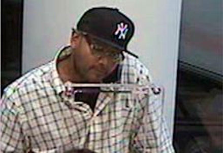 The perpetrator pictured above is wanted in connection with the following bank robberies: Tuesday, July 17, 2012 at approx. 3:00PM at the Amalgamated Bank located at 98-25 Harding Expressway in Queens, N.Y., Friday, August 10, 2012 at approx. 5:50PM at the Chase Bank located at 74-03 Metropolitan Ave, and Monday, August 20, 2012 at approx. 1:52PM at the HSBC Bank located at 22-15 43 Avenue. Crime Stoppers will pay up to $2,000 for any information leading to the arrest&indictment of the person re. PLEASE CALL CRIME STOPPERS AT 1(800)577-TIPS. ALL CALLS REMAIN ANONYMOUS AND CONFIDENTIAL.