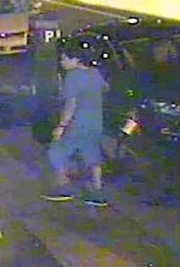 "On Tuesday, September 3, 2013 at approximately 1:55 A.M., in front of 28-40 36th Street in the confines of the 114 Precinct in Queens, N.Y., the perpetrator pictured above sexually assaulted a female. The perpetrator is described as male Hispanic, 25 to 33 years old, 5'5"" to 5'7"", 150 to 180 pounds, with a black ponytail, wearing a blue T-shirt, blue jeans shorts, and black sneakers. Please call Crime Stoppers at 1(800)577-TIPS. All calls remain anonymous and confidential."