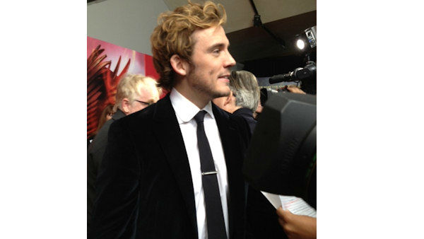 "Actor Sam Claflin seen at The  New York City Premiere of ""The Hunger Games: Catching Fire"" on Wednesday, Nov. 20, 2013, in New York City"